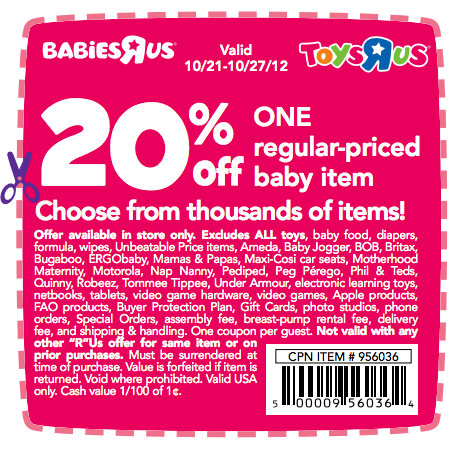 image relating to Baby R Us Coupons Printable identified as Digital discount coupons for toys r us - 6 02 discount codes