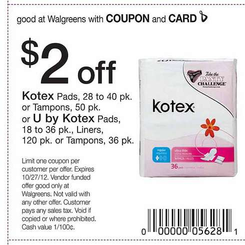 U by Kotex has 3 new coupons out and some great High Value Savings. $3 on U by Kotex Pads; $2 on u By Kotex Liners; $3 on U by Kotex Tampons; We should for sure see some free pads in our future and some liners and tampons for $1.