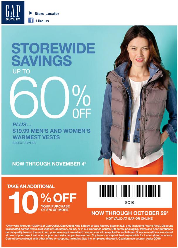 Gap discount coupons printable