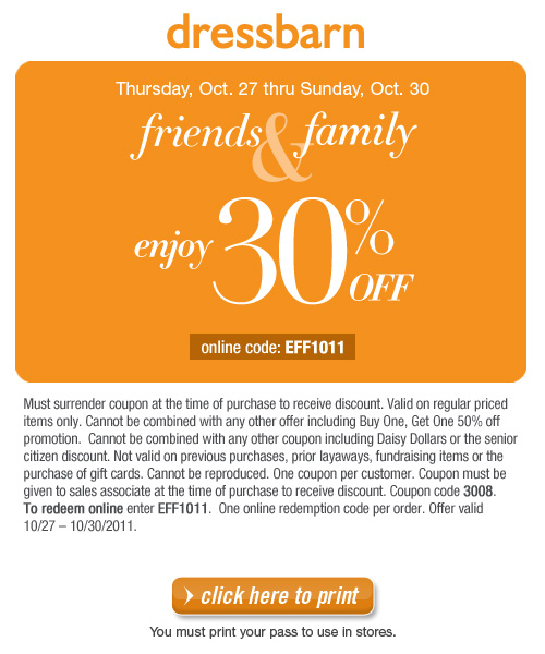 Dress barn coupon codes