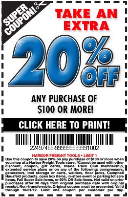 20 Off Harbor Freight Coupon Printable Deals Gone Wild Kitchener