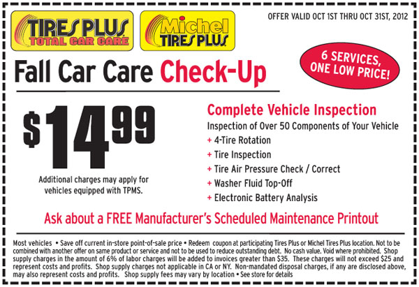 Coupons discount tire center