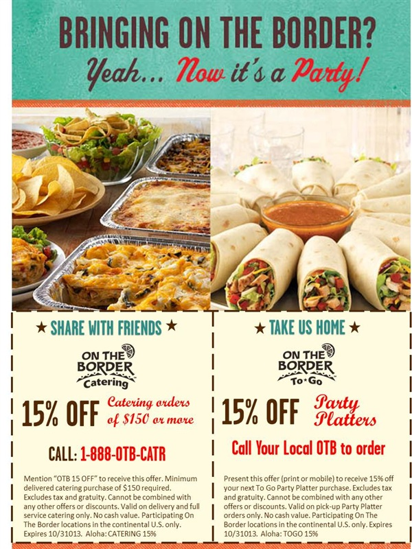 on the border 15 off catering printable coupon