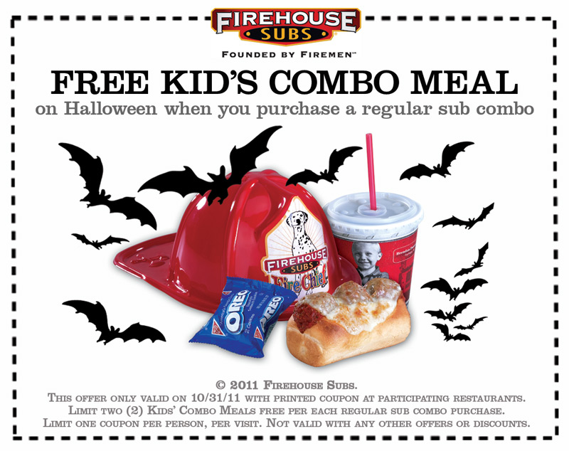 graphic regarding Firehouse Subs Coupon Printable identified as Firehouse Subs: Absolutely free Little ones Combo Printable Coupon