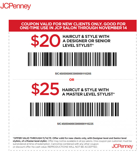 jcpenney salon $ 20 $ 25 off printable coupon see all jcpenney coupons