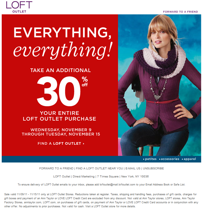 picture relating to Loft Coupon Printable known as Coupon ann taylor loft / Chase coupon 125 funds