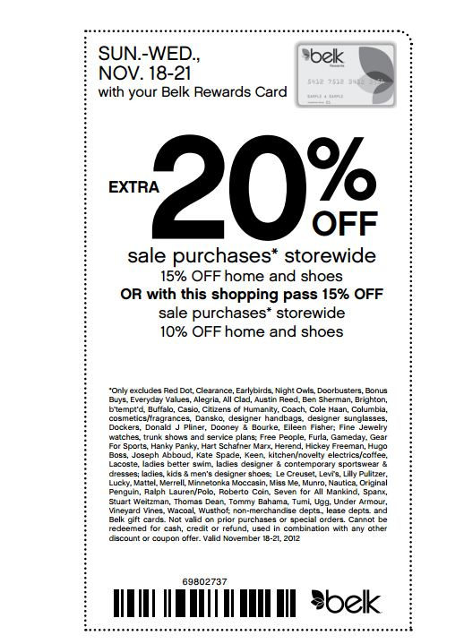 Belk com coupon code