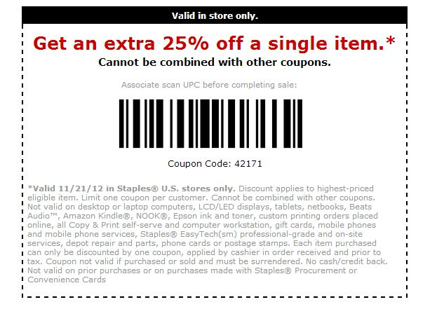 Staples coupon code