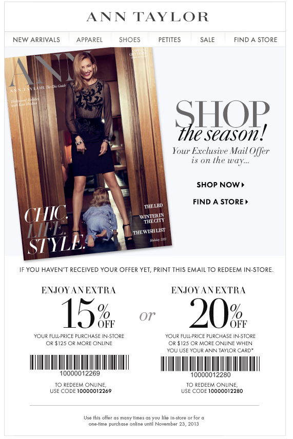 photograph regarding Anne Taylor Loft Printable Coupons identify Ann taylor discount coupons printable