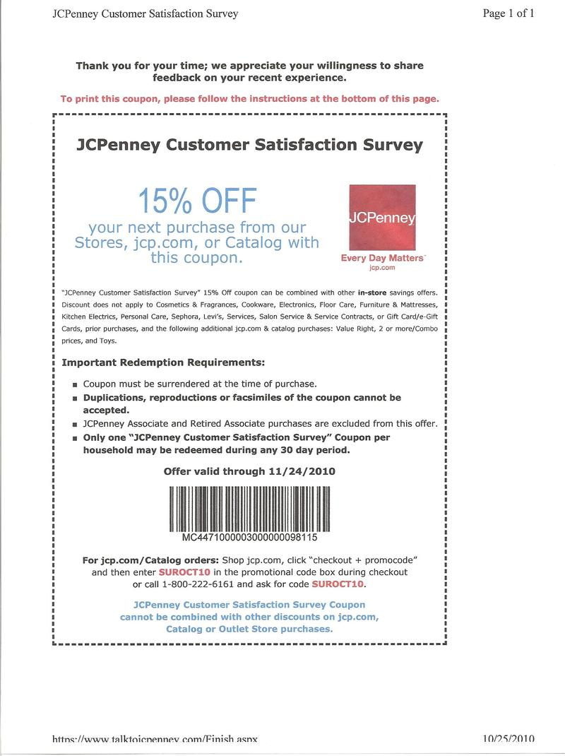 Jcpenney CouponsJcpenney Coupons Printable 15 In Store 10 Off
