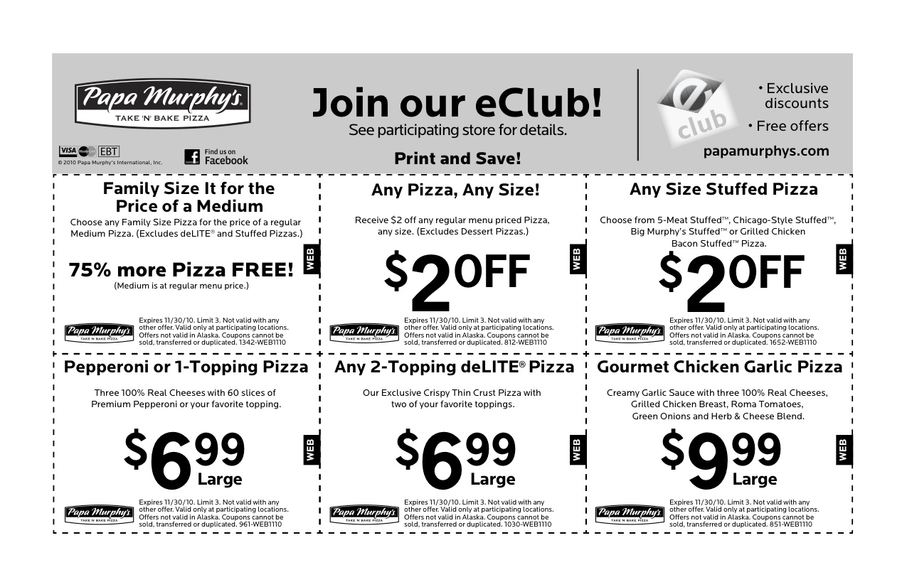It's just a graphic of Simplicity Papa Murphys Printable Coupons