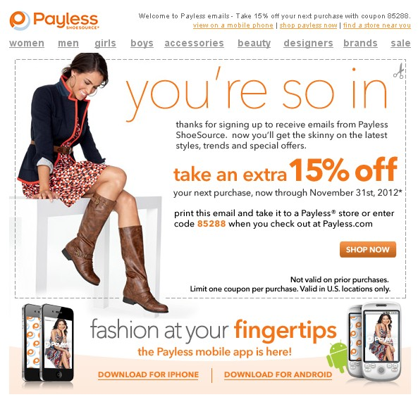 days ago DealCatcher is your guide for Payless coupon codes, promos