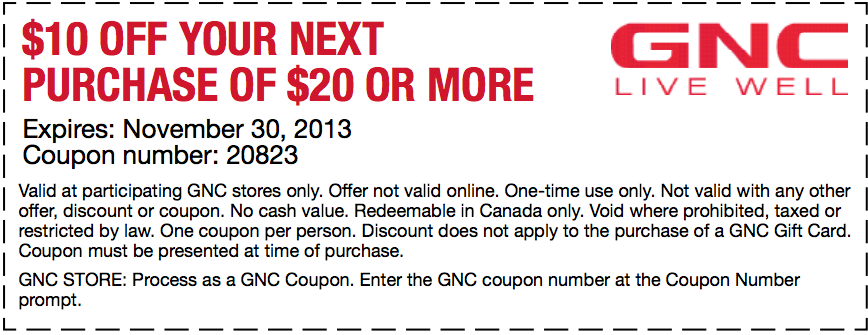 Gnc coupon july 2018 printable