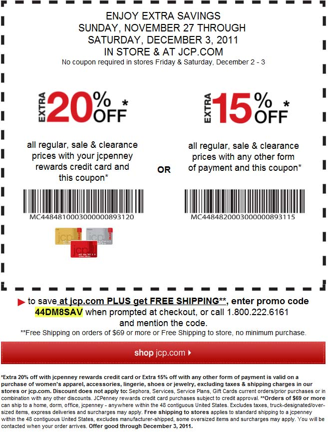 Jcp coupon 20