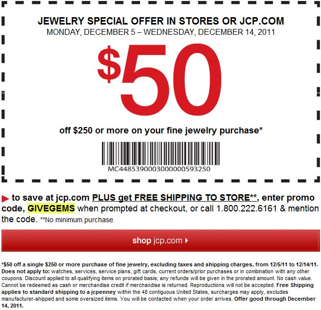 Jcpenney coupon in store