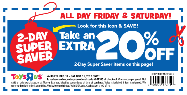 picture regarding Toy R Us Coupon Printable titled 15 coupon toys r us : Ninja cafe nyc discount codes