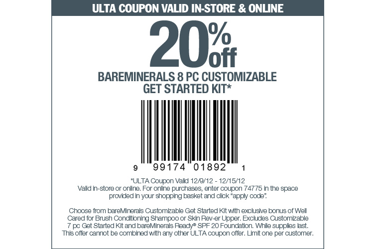 Ulta coupon code 20 off