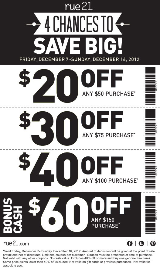 image regarding Rue 21 Printable Coupons named Rue 21 coupon codes / Serious Keep Specials
