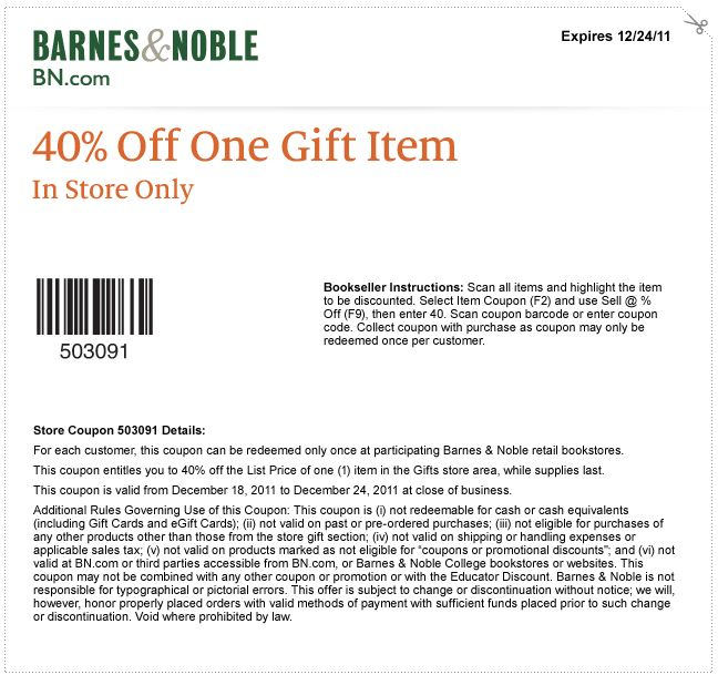 Details: Shop at Barnes and Noble today and receive a special Free Shipping discount on qualifying orders over $25 of new books, music, movies and more.