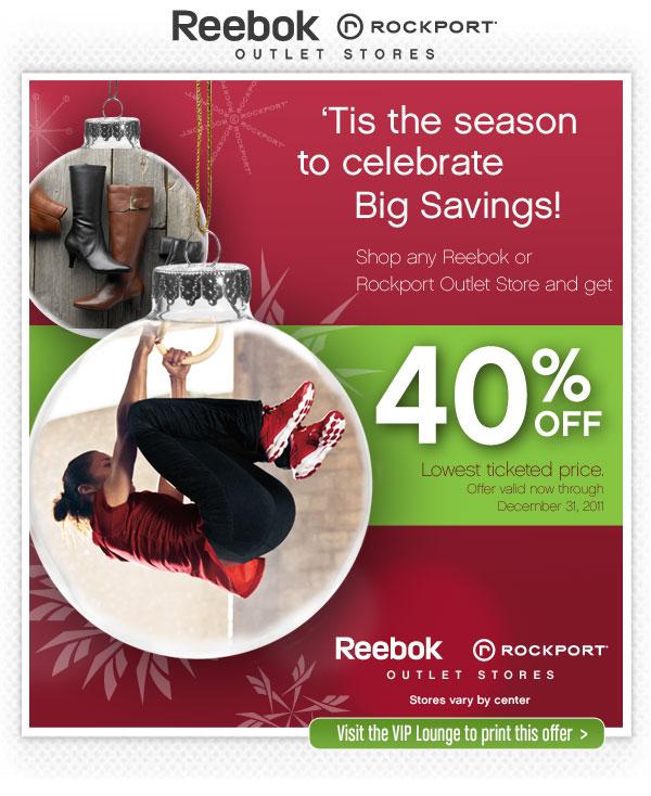 Reebok discount coupons