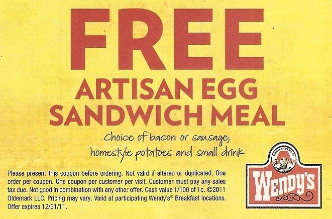 wendys free meal printable coupon