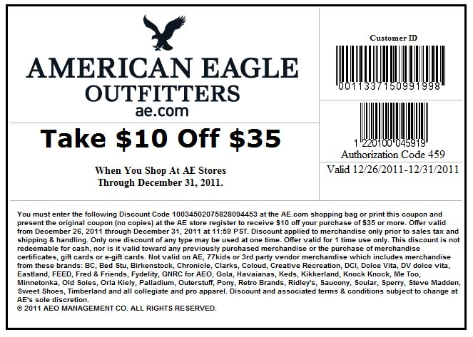 American eagle coupons printable june 2018