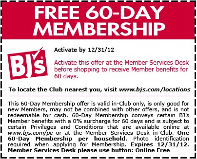 Bj's members coupons