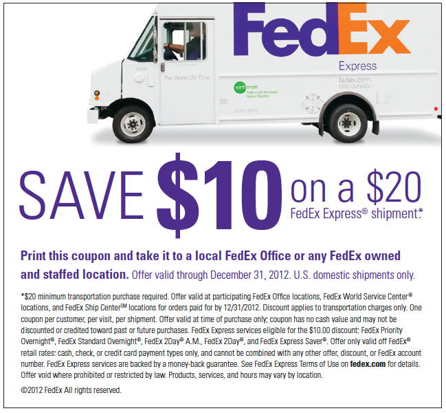 Fedex printing coupon code