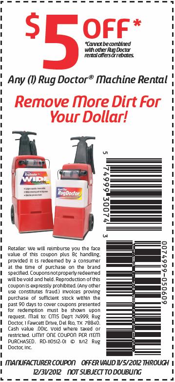 rug doctor $ 5 off printable coupon see all rug doctor coupons coupon ...