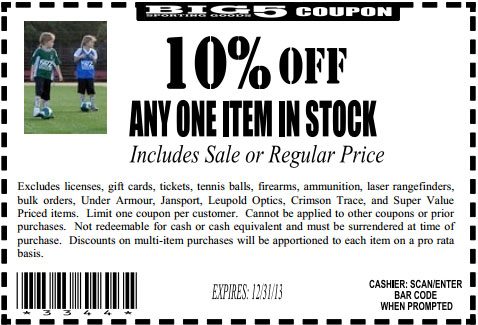 image about Big 5 Printable Coupons named Massive 5 sports activities printable discount codes - Samurai blue coupon