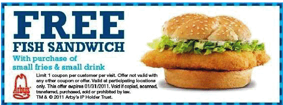 Arbys free fish sandwich printable coupon for Arby s fish sandwich