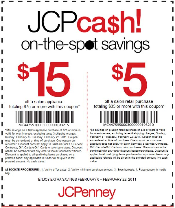 jcpenney promo coupon codes and printable coupons
