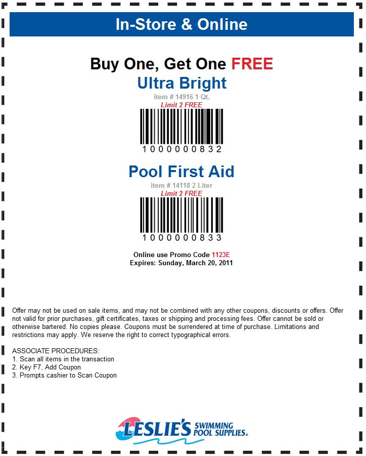 Online pool chemicals discount coupon