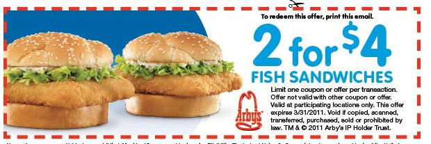 arbys 2 for 4 fish sandwiches printable coupon