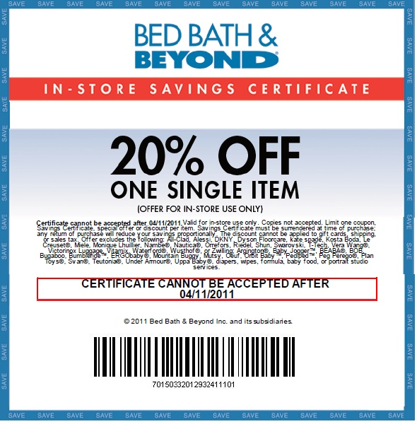 Bed Bath And Beyond Store Ad