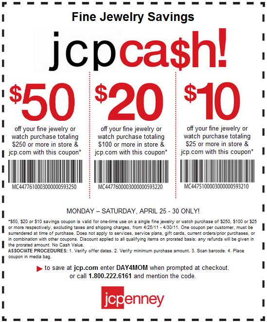 jcpenney coupons 25 off 50 printable cyber monday deals