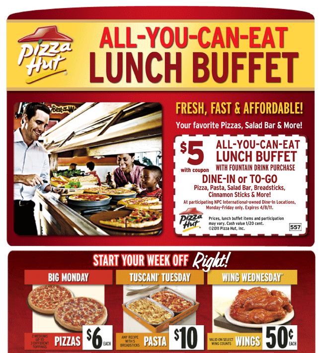 pizza hut buffet coupons 2016 coupons database 2017 rh coupondbs blogspot com Peter Piper Pizza Buffet Coupons peter piper lunch buffet hours