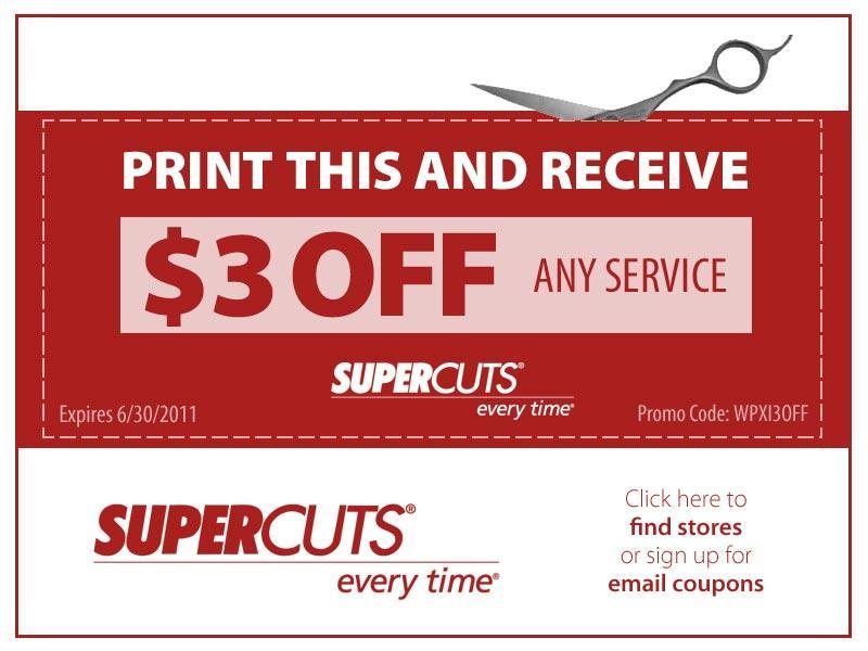 Supercuts Coupon Codes, Promos & Sales. Want the best Supercuts coupon codes and sales as soon as they're released? Then follow this link to the homepage to check for the latest deals.