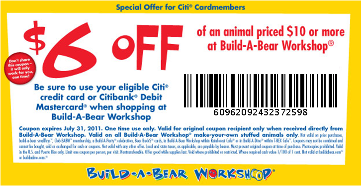 Build a bear coupons discounts