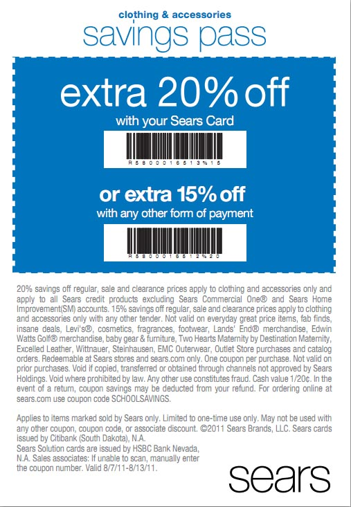 $10 Off Sears Coupon Real talk, this is one of the best Sears coupons we've seen recently. Present this code in-store at checkout, or enter the promo code online at checkout, and instantly get $10 off purchases of $ or more, storewide/5(26).