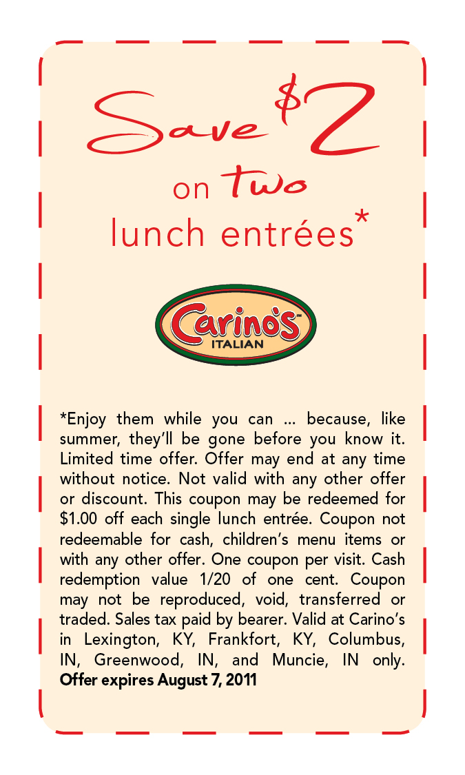 Johnny carino's coupons discount code