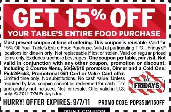Fridays coupons may 2018