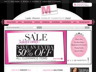 Maidenform Promo Coupon Codes and Printable Coupons