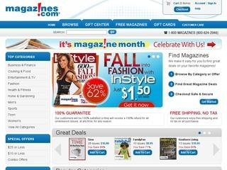 Magazines.com Promo Coupon Codes and Printable Coupons
