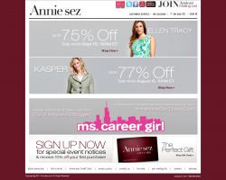 Annie Sez Promo Coupon Codes and Printable Coupons