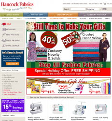 Hancock Fabrics Promo Coupon Codes and Printable Coupons