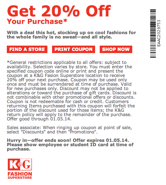 K g fashions coupons 18