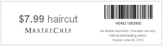 photo about Mastercut Coupons Printable called MasterCuts: $7.99 Haircuts Printable Coupon