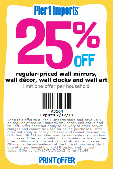 pier 1 printable coupons pier 1 imports 25 printable 24000 | 07 17 2012 pier 1 imports 25 off printable coupon 1