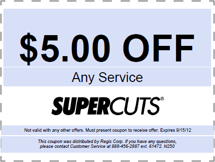 Supercuts Coupons are available on the Internet, but you have to take your time when you are looking for them. Unfortunately, many people give up after a few minutes of searching. If they knew the cash they could be saving with coupons for Supercuts, they would take as long as it took to find them.